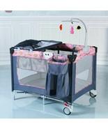 Foldable 2 Color Baby Crib Playpen Playard - $127.99