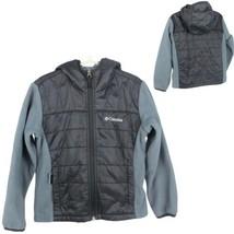Columbia toddler fleece size XXS jacket black gray full zipper hoodie (F-2) - $14.63