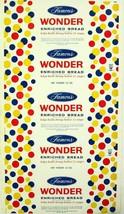 Vintage bread wrapper WONDER FAMOUS 12oz size Rye New York unused new ol... - $8.99