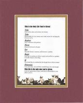 Touching and Heartfelt Poem for Motivations - This is the Only Life You're Given - $15.79