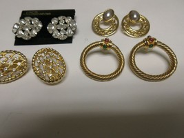 Costume Jewelry ,Vintage , Earrings , Joan's Collectibles , Lot of 4 , U... - $75.00