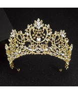 Luxury Gold And Silver Color Rhinestone Wedding Crown Tiara Fashion Hand... - $25.55