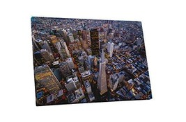 "Pingo World 0429QB2HNMS ""San Francisco Downtown Top Down Skyline"" Gallery Wrappe - $57.37"