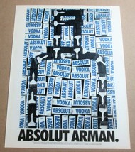 ABSOLUT ARMAN Large-Size Vodka Magazine Ad w/ Artwork by Armand Arman © ... - $9.99