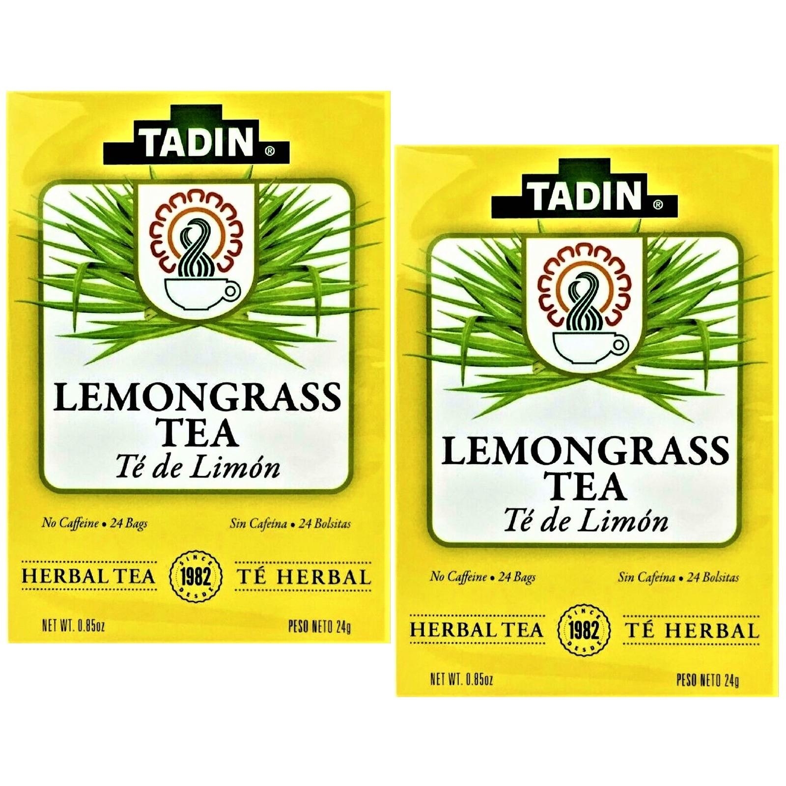 Tadin Lemongrass Tea Herbal/Tisana 24 bags Box 2 Boxes - $14.80