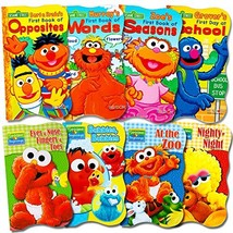 Sesame Street Ultimate Board Books Set For Kids Toddlers -- Pack of 8 Bo... - $21.22