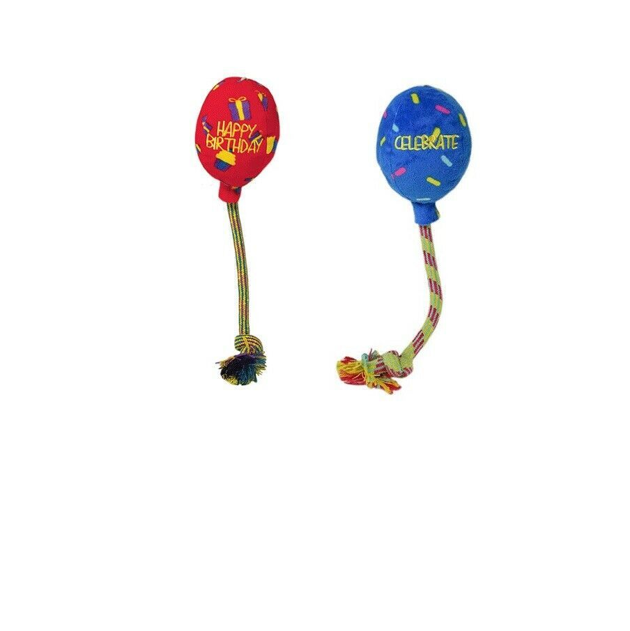 "Primary image for KONG Birthday Balloon for Dog Toy Red or Blue Medium - 6"" Fetch"