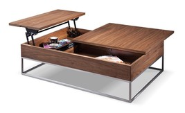 VIG Modrest Telson Modern Walnut Veneer Finish Coffee Table w/ Storage - £742.09 GBP