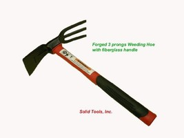 Forgecraft USA Adze Hoe with Fork, Dual Headed Weeding Tool - $34.63