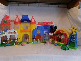 Fisher Price Little People Discover Disney Mickey Mouse Castle + Interstate Sign - $93.02
