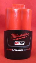 Milwaukee M12 Genuine 48-11-2401 12V 1.5AH 18WAH Red Lithium Lion Battery - New! - $23.56