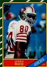 Jerry Rice 1986 Topps #161 Rookie Reprint Card San Francisco 49ers - $3.99