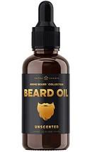 Beard Oil Conditioner - Unscented All Natural Virgin Argan, Jojoba, Grapeseed Oi image 1