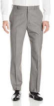 Perry Ellis Solid Twill Dress Pants , Brushed Nickel Core, Size 33X32, M... - $34.64