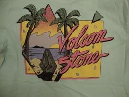 Volcom Stone Skating Snowboarding Apparel Logo Light Blue T Shirt S - $17.17