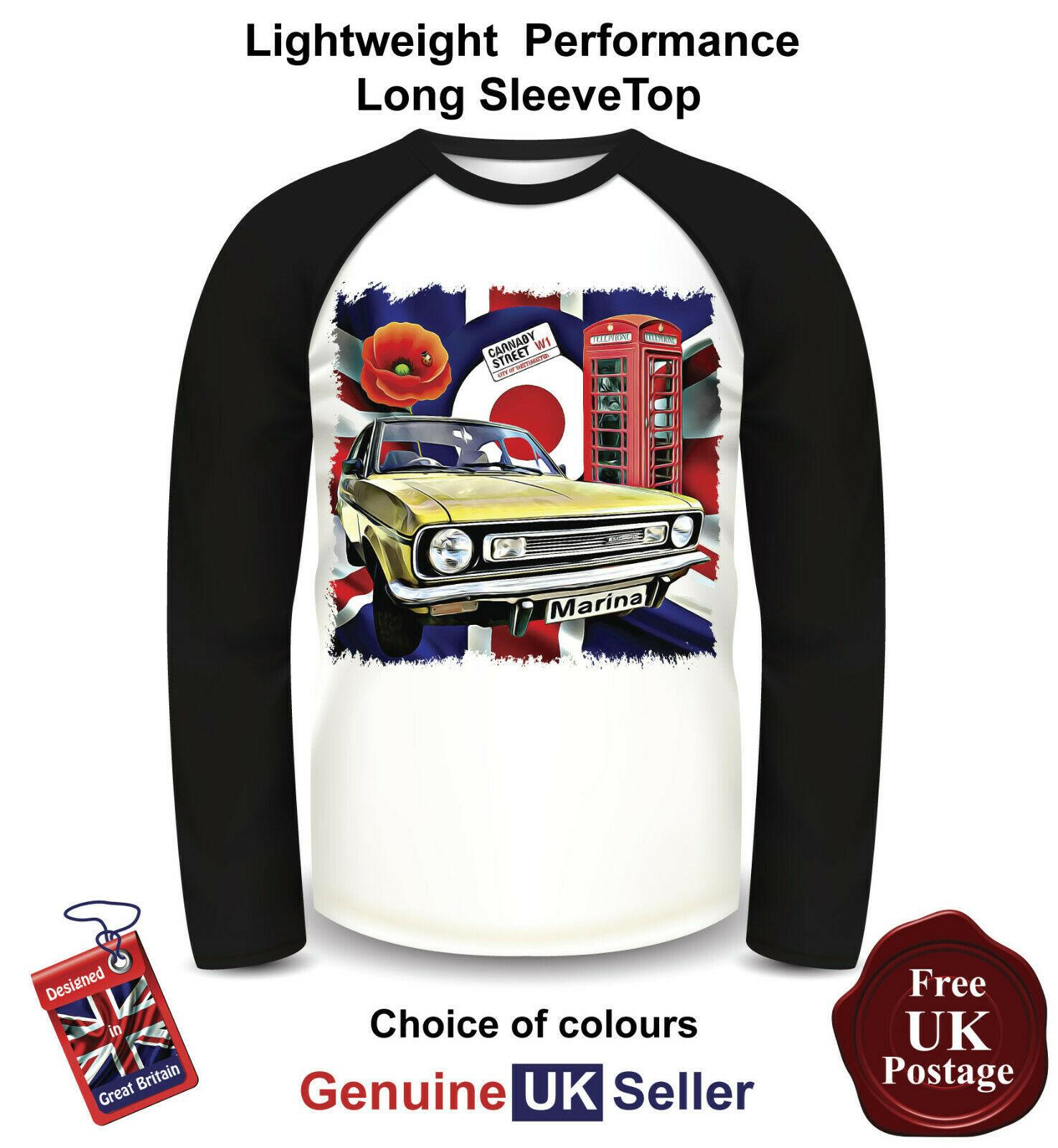 Morris Marina Shirt, Long Sleeve, Morris Marina T Shirt, Men's Top,  - $23.58