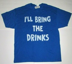 XL Shirt Royal Blue I'll Bring The Drinks Party Bar Drinking Funny Humor... - $19.26