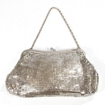 Vintage 1920's Whiting &Davis Co Silver Mesh Evening Cocktail Party Bag - $48.94