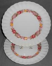 Set (2) Copeland Spode Rose Briar Pattern Dinner Plates Made In England - $39.59