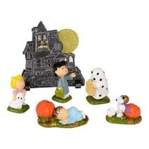 Dept 56 PEANUTS 2014 PEANUTS HAUNTED HOUSE 6 Piece Set Halloween - ₨2,524.97 INR