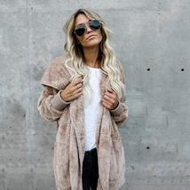 Fur Cardigans Women Long Sleeve Oversize Winter Casual Loose Coverup Top... - $22.00+