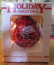 1998 Commemorative Sioux City, Iowa Christmas Ornament Veterans Memorial... - $14.36