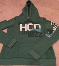 Hollister Hoodie Youth L Green HCO Cali 1922 Graphic (BB5) - $13.86