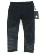 90 Degree by Reflex Blue Mesh Stripe Capri Leggings w Attached Short Wom... - $59.24