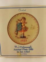 vintage M.J. Hummel Goebel Annual Plate 1980 10th Edition - $7.75