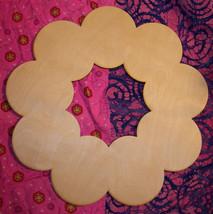 "Unfinished wood wooden WREATH shape style 2 - 17.5'' x 17.5"" - $8.00"