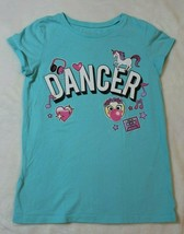 Children's Place Girls Top Size 7 8 Blue Emoji Dancer Music Spring Summe... - $17.81