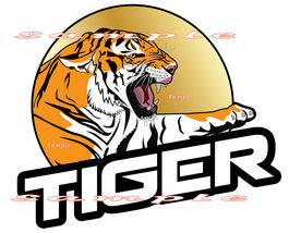 Iron On T-Shirts & Other Fabrics Heat Transfer Graphic ~ Tiger Logo - $7.00+
