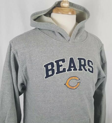 Primary image for Chicago Bears Hooded Sweatshirt Youth L Gray Sewn Embroidered NFL Team Apparel