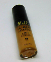 Lot of 3 MILANI CONCEAL + PERFECT 2-in-1 Foundation No.09 Tan 1.0Fl.oz./... - $13.42