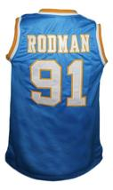Dennis Rodman Oak Cliff High School Basketball Jersey New Sewn Blue Any Size image 2