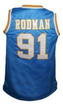 Dennis Rodman Oak Cliff High School Basketball Jersey New Sewn Blue Any Size image 2
