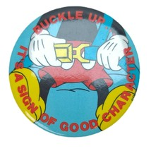 Vintage Disney Pinback Button Numbered 283/500 Cast Exclusive Buckle Up - $22.77