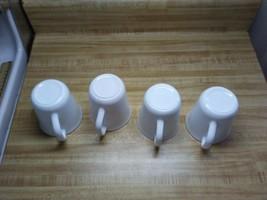 White Corelle coffee mugs D handle - $19.75