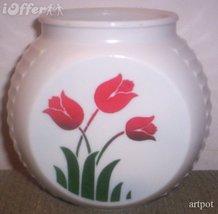 DEPRESSION GLASS- ANCHOR HOCKING VITROCK RANGE SET RED TULIP GREASE JAR ... - $24.95