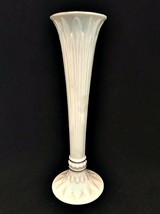 Lenox Fine China Ivory Bud Vase Tivoli Pattern 24K Gold Trim 9 inches Tall - $29.69