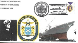 First Day in Commission THOMAS HUDNER (DDG-116)  December 1 2018 Dr.L's ... - $3.47