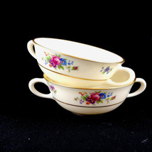 Lenox Rose Fine China Ivory Dresden Floral 2 Coupe Bowls Cups USA Retired U31 - $18.46