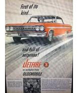 1963 Oldsmobile Olds Jetfire Original Car Print Advertisement Automotive... - $5.49