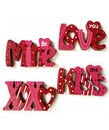 Set of 4 Valentine's Day Sayings Signs - $24.00