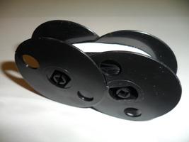 Underwood 555 Standard Typewriter Ribbon Black and White Correcting Twin Spool image 2