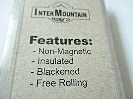 "Intermountain #40051-50  Metal Wheels 36"" Code 110 50 Axles Per Pack HO Scale image 3"