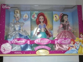 Disney Princess Porcelain Dolls Brass Key Keepsakes RARE Set - $141.57
