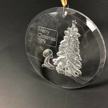 Vintage 70s Christmas Ornament Christmas Tree Merry Christmas 1979 Clear... - $13.74