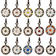 5 Pointed Star Pentagram Pentacle Silver Pewter Necklace Pendant Jewelry... - $5.99