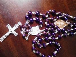 Purple Glow Rosary - $25.18